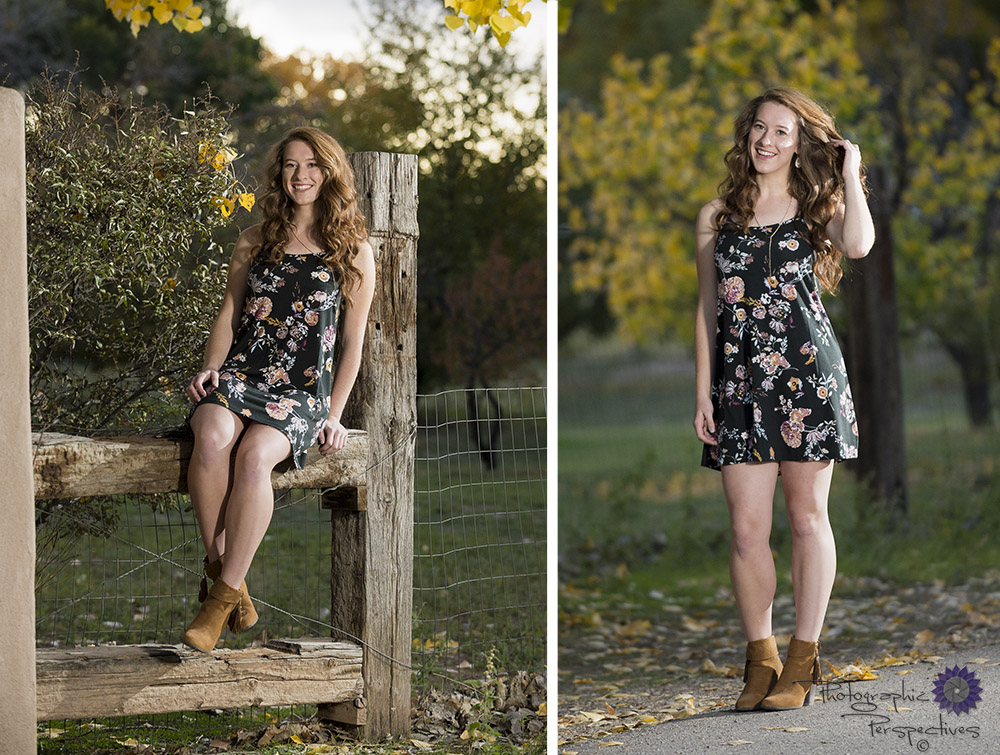 We love taking senior photos in the fall. New Mexico | Albuquerque Photographers | High School Senior