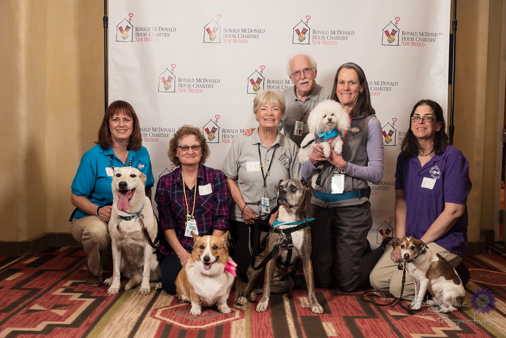 Ronald McDonald House Charities of New Mexico | Therapy Dog Volunteers | Event Photography in Albuquerque