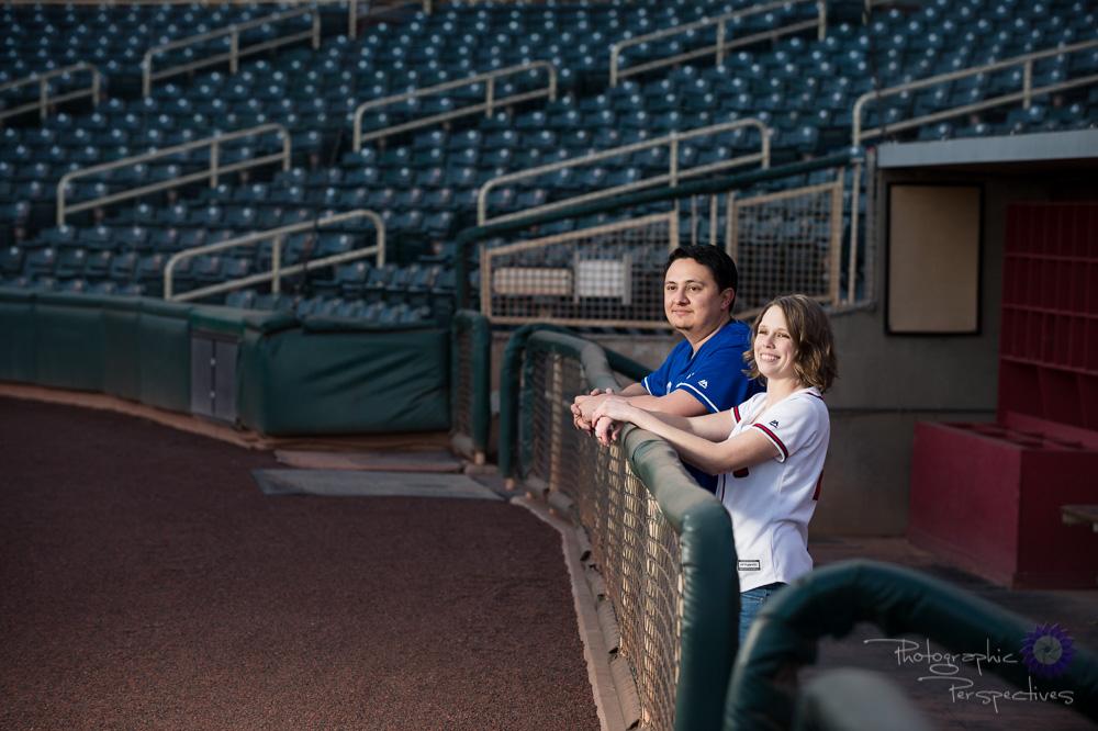 Albuquerque New Mexico Wedding Photographer | Baseball Engagemen