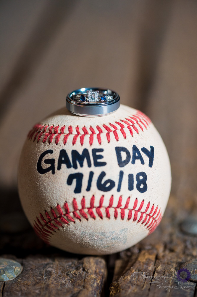 Baseball Park Engagement | Save the Date Inspiration