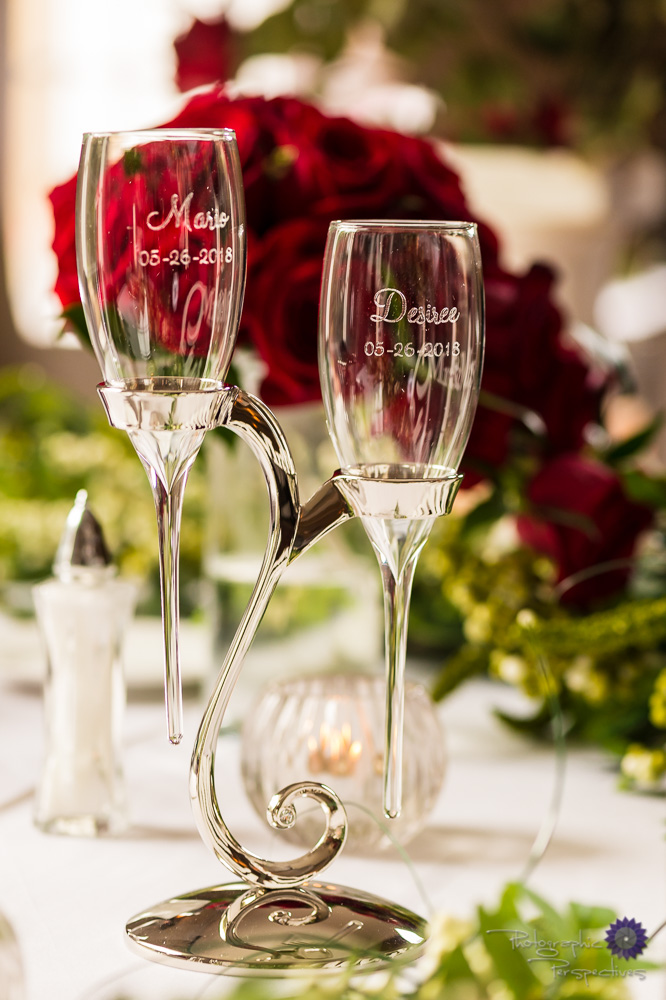 Custom Wedding Champagne Glasses