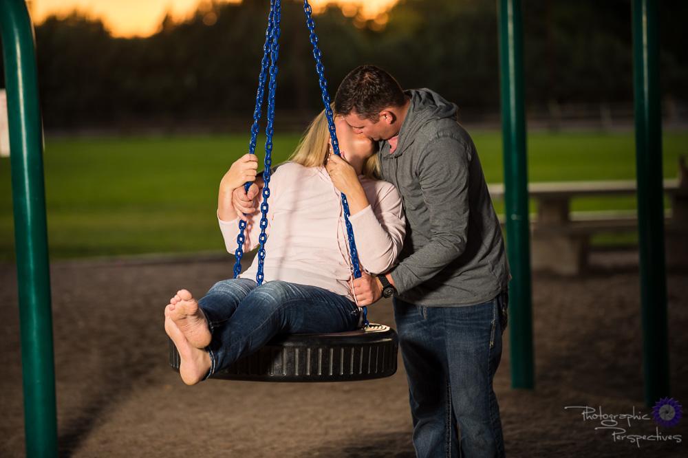 Evening Engagement Photos