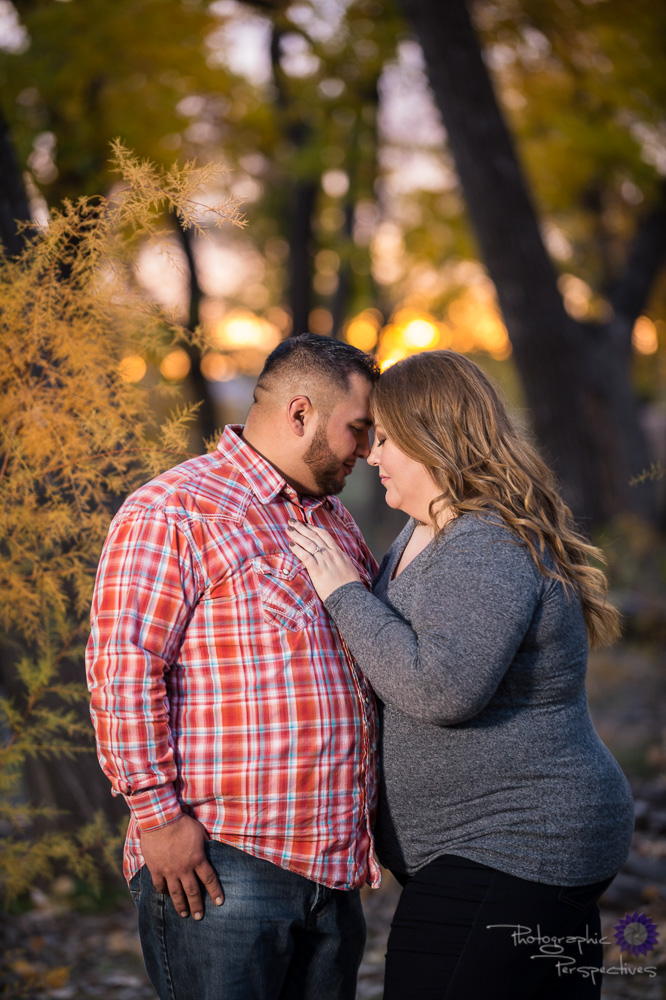 Sunset engagement photo | Photographic Perspectives