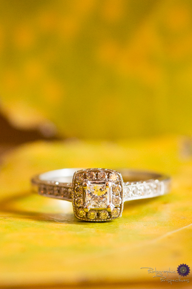 Fall Engagement session | Wedding Ring Detail