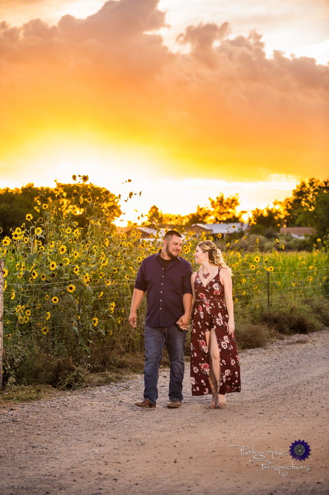 Wedding Photographers in Albuquerque - Engagement Photography - Sunflowers and Sunset Photo.jpg