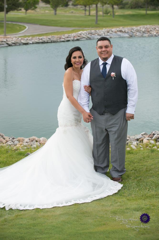 Albuquerque Wedding Photographers | Isleta Resort and Casino | Wedding Couple on Golf Course.jpg