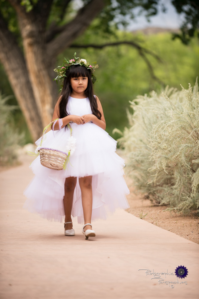 Hyatt Regency Tamaya Wedding | New Mexico Wedding Photographers | Flower Girl