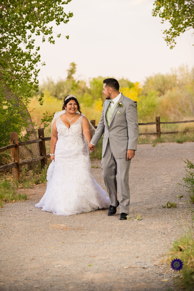 Best Wedding Photographer in Albuquerque | Hyatt Regency Tamaya Wedding  | Walking in Bosque