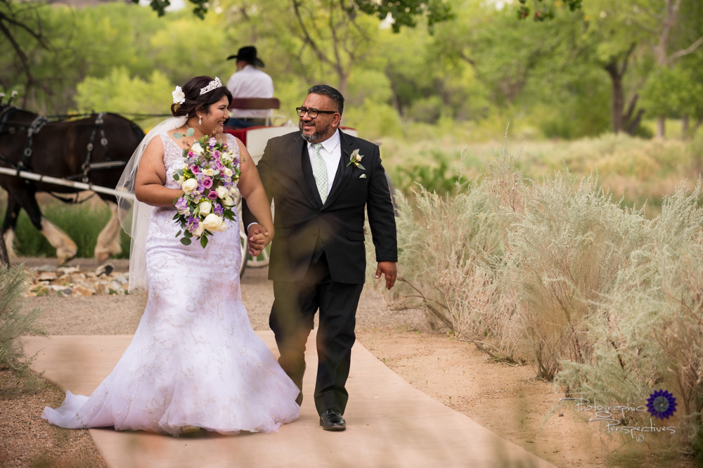 Top Albuquerque Wedding Photographers | Hyatt Regency Tamaya Wedding  | Father escorting Bride