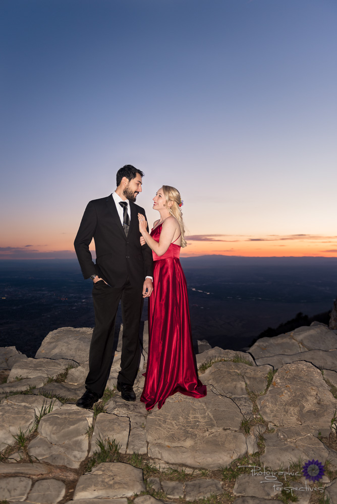 Sandia Mountains Engagement Photos