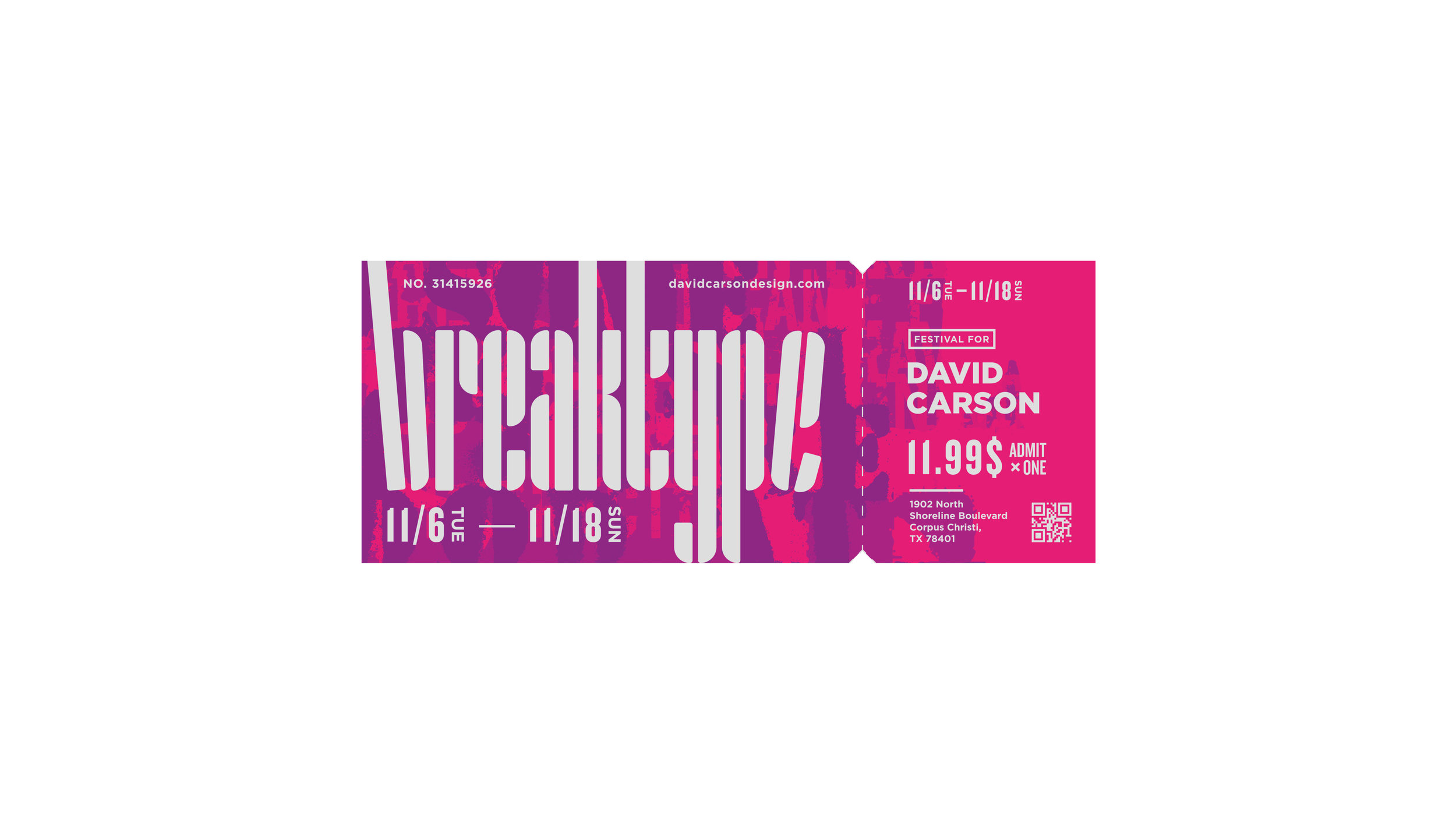 Break type festival ticket iteration | Max Li, Freshman