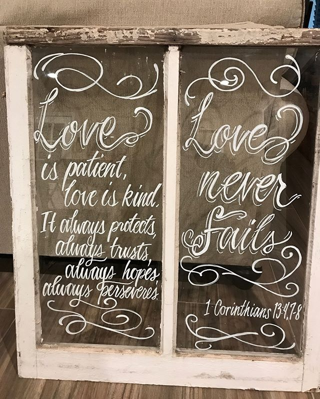 Painted these window panes over the weekend. Paintings make the best gifts 🎁Keep that in mind this holiday season! #art #brushlettering #giftideas