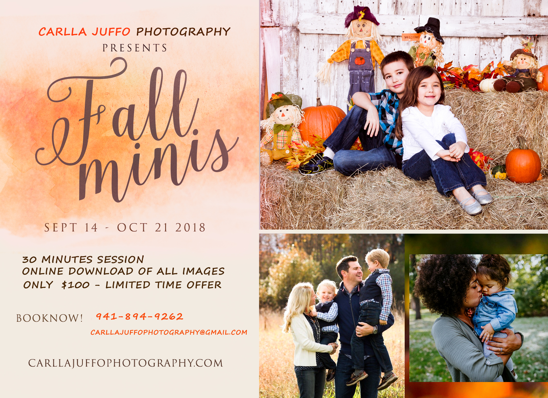 Fall mini sessions - Sarasota  Family Photographer-carlla juffo photography.jpg