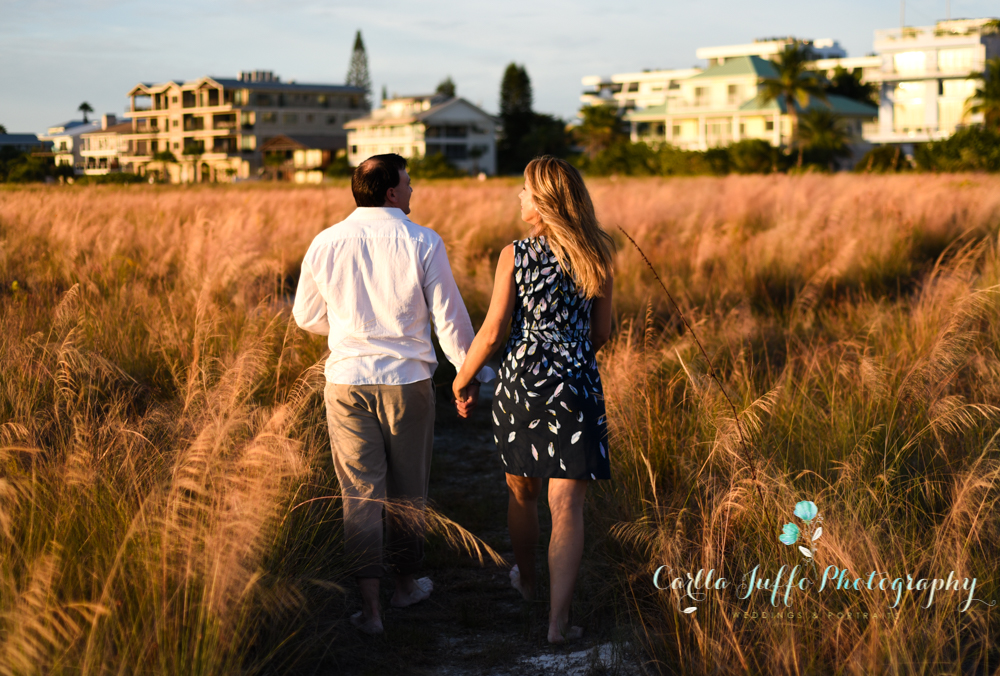 Engagement photo session on Siesta Key Beach