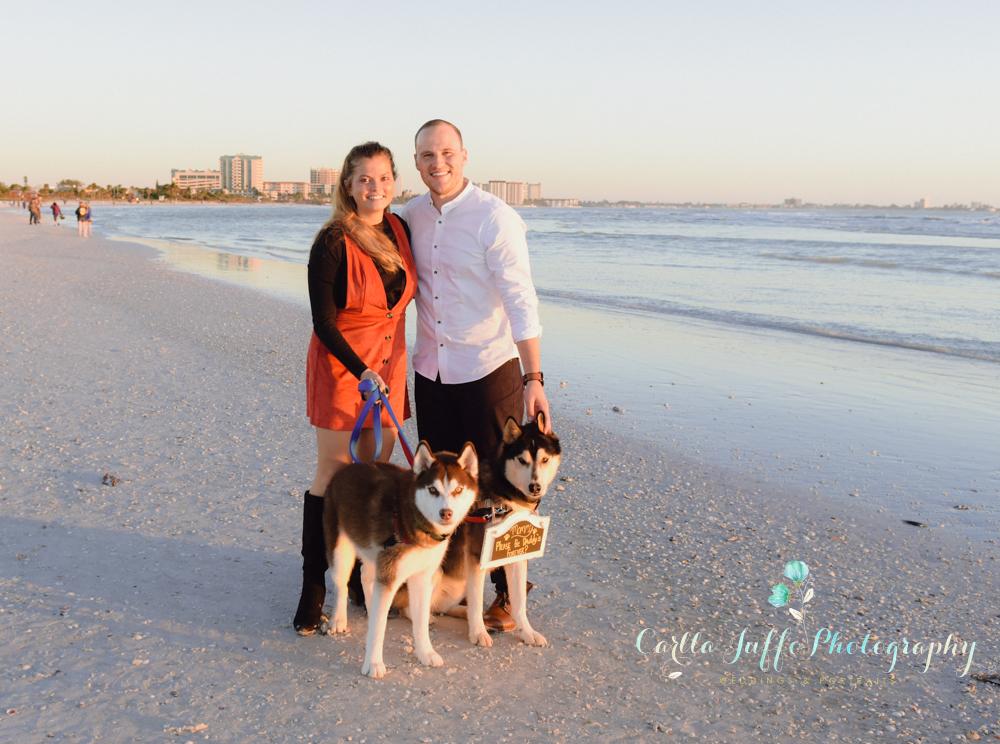 Lido Beach surprise proposal - Engagement Photography