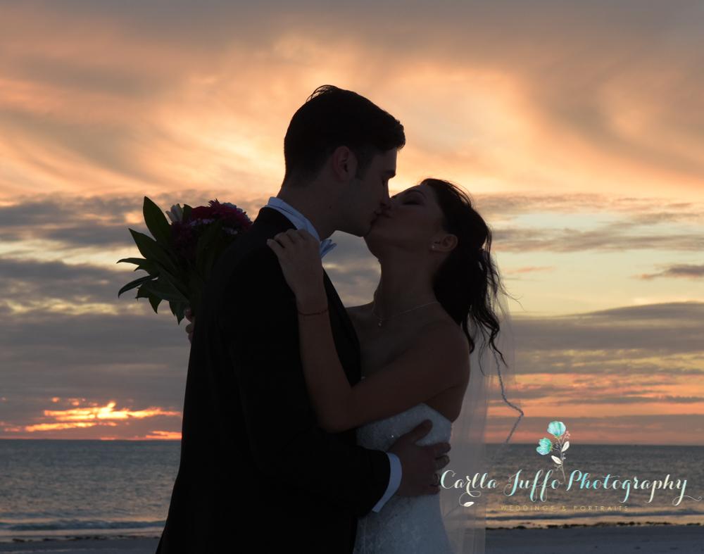 Sunset Beach Wedding on Siesta key