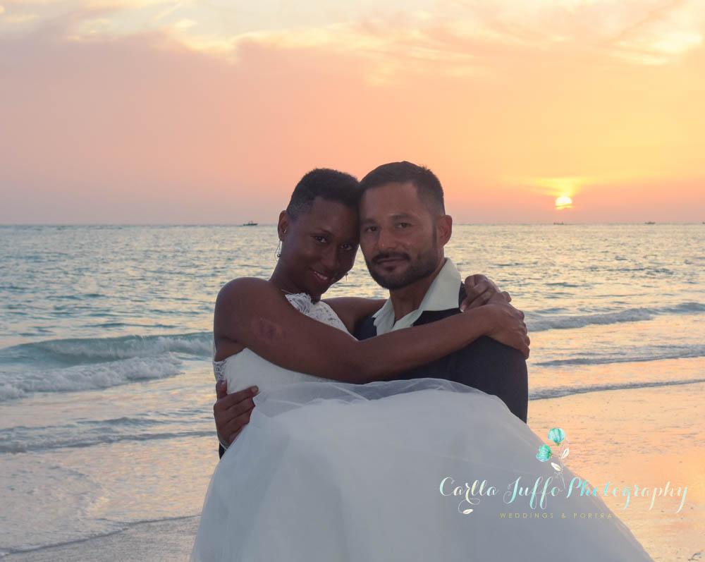 Sarasota wedding Photographer- Sunset portraits on the beach