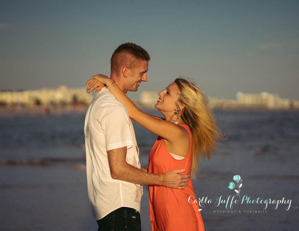 Siesta Key Beach Engagement Photographer
