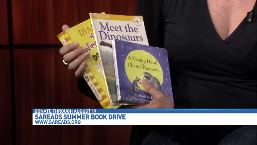 SAReads Accepting Donations for Summer Book Drive - News4SA.com June 2016