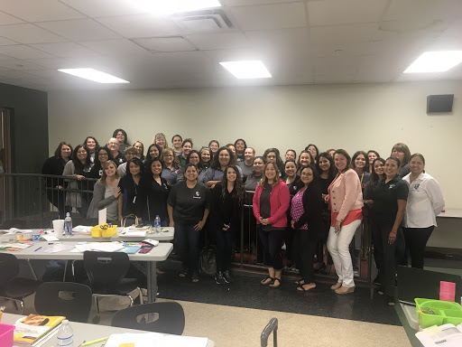 Southwest ISD educators participate in  LETRS ® training and certification. Pictured with national literacy consultant,  Dr. Mary Dahlgren.