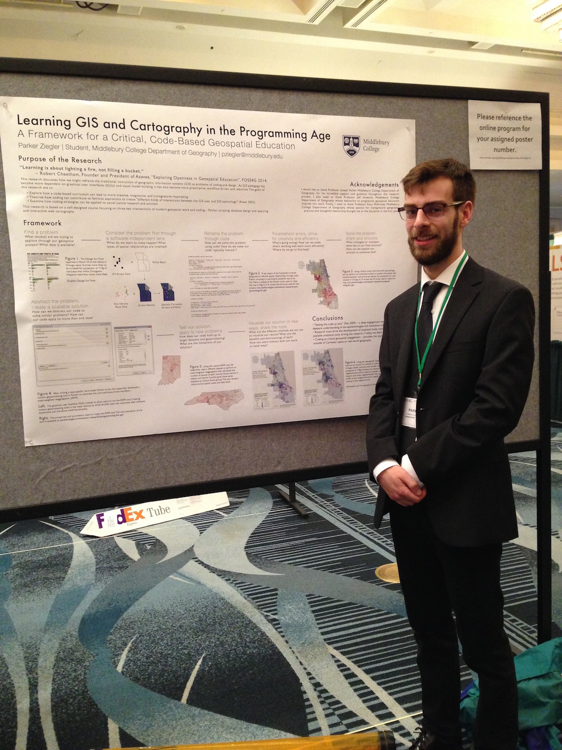 Presenting at AAG 2016 in beautiful San Francisco, CA as part of the GIS & Technology Poster Session.