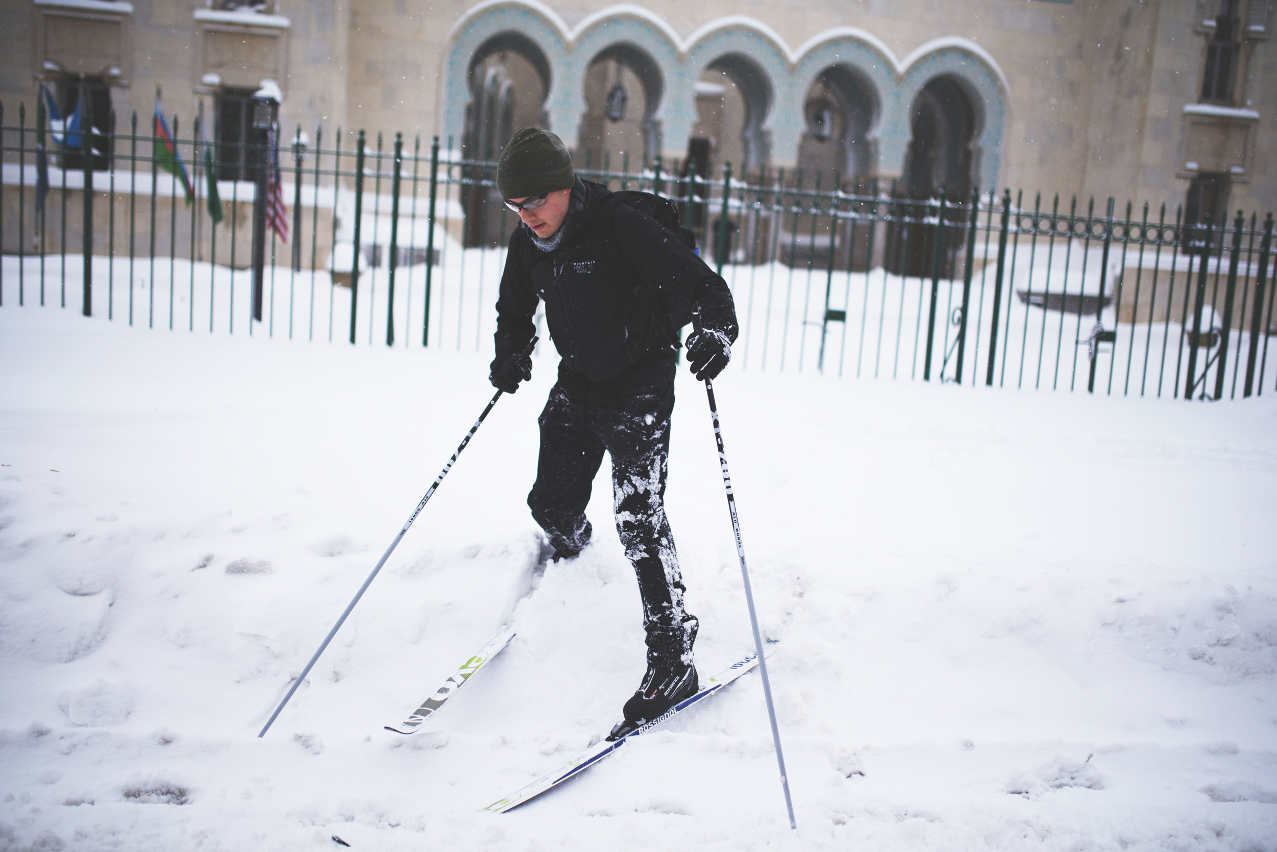Oooo and of course all the awesome cross-country skiers.. they knew how to get around the right way