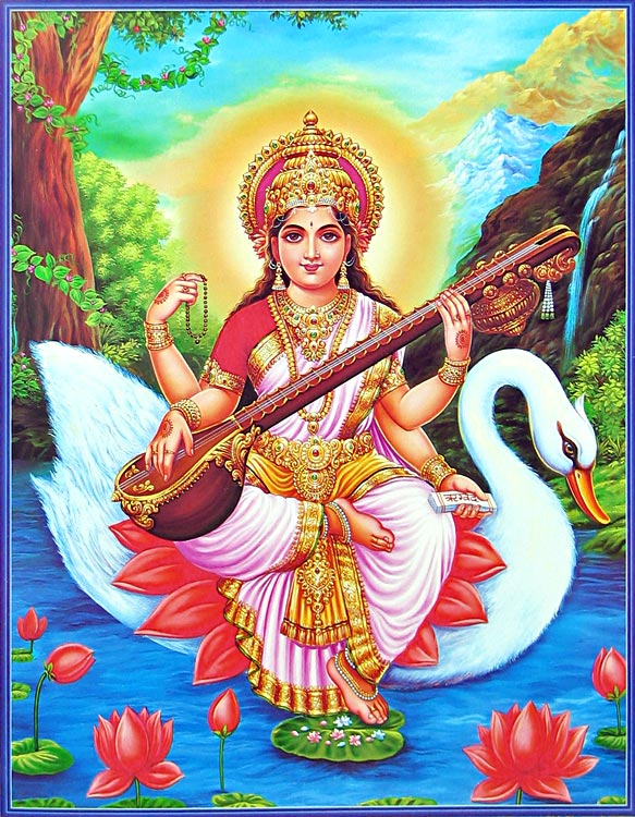 Saraswati, Goddess of Knowledge, Wisdom, Arts and Music