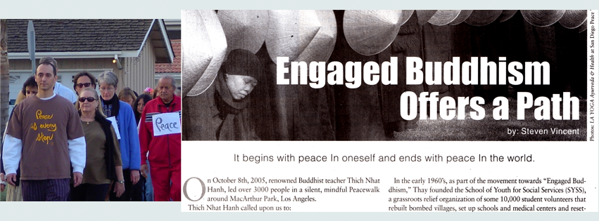 Yogi Steven led thousands of people in peaceful, mindful walking in 24 communities across Southern California during the Iraq War.