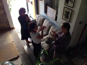 Practicing palmas with Maribel
