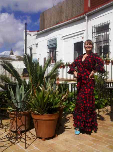 Heather in traje flamenca