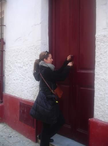 coming in the door