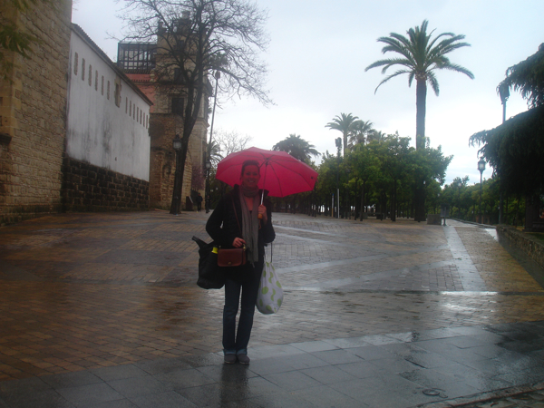 in front of the alcázar on the way to bata class