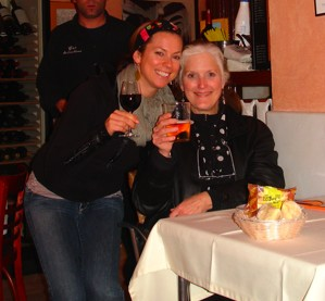 Jackie and Laura last night in Jerez