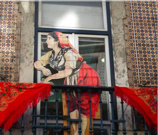 Woman cutout in Lisboa
