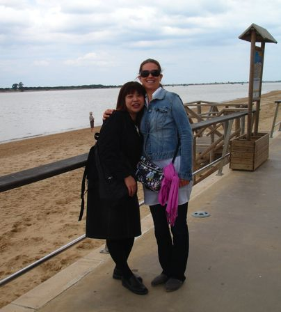 Akiko and Laura in Sanlucar