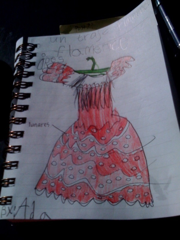 Ada's flamenco traje drawing