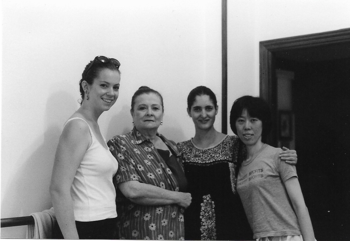 Me, Matilde Coral, Erika from Mexico, and Chiaki from Japan after our summer workshops.