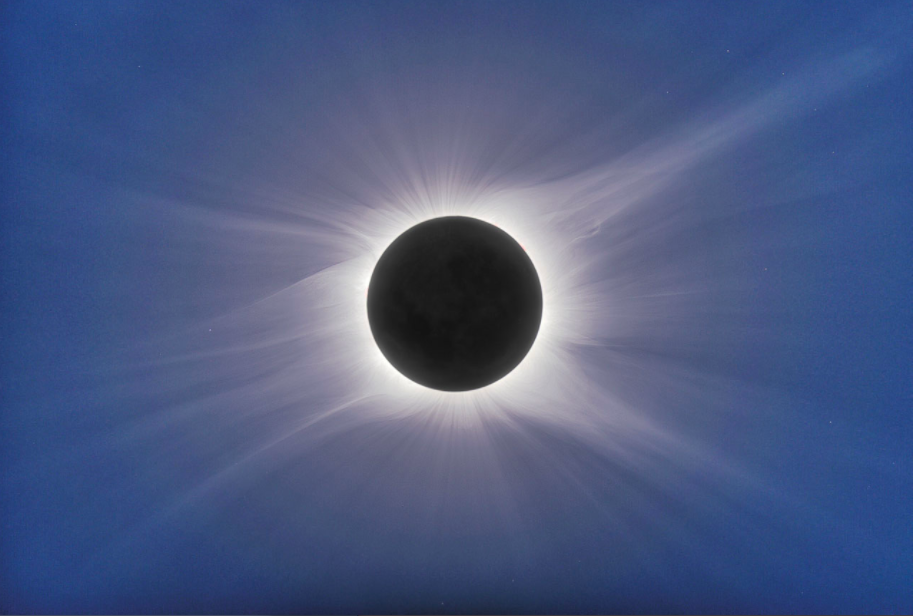 Total eclipse from  Easter Island, July 11, 2010
