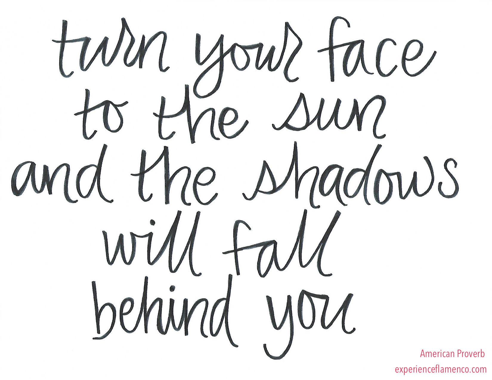 turn your face to the sun and the shadows will fall behind you.jpeg