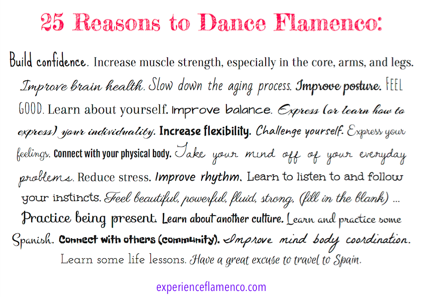 Why you should dance flamenco