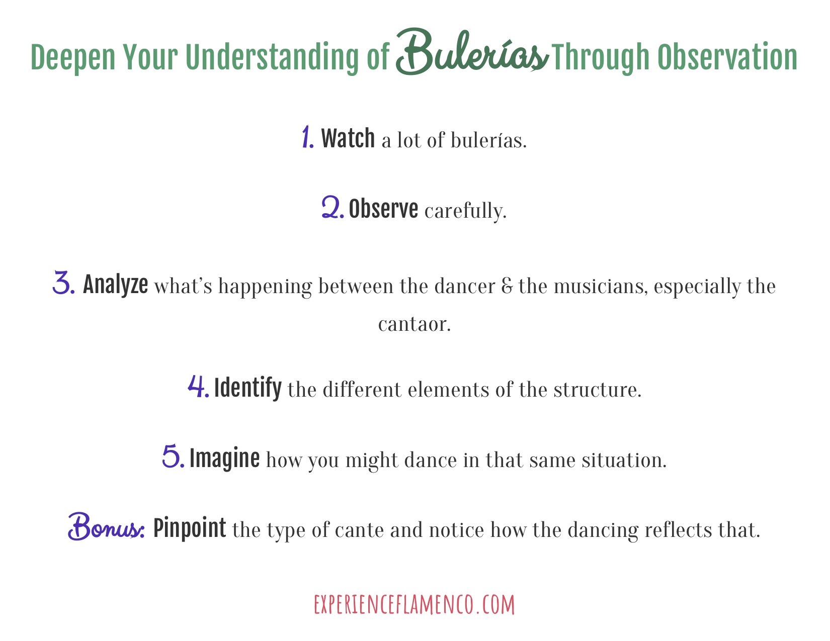 Deepen your understanding of bulerias through observation