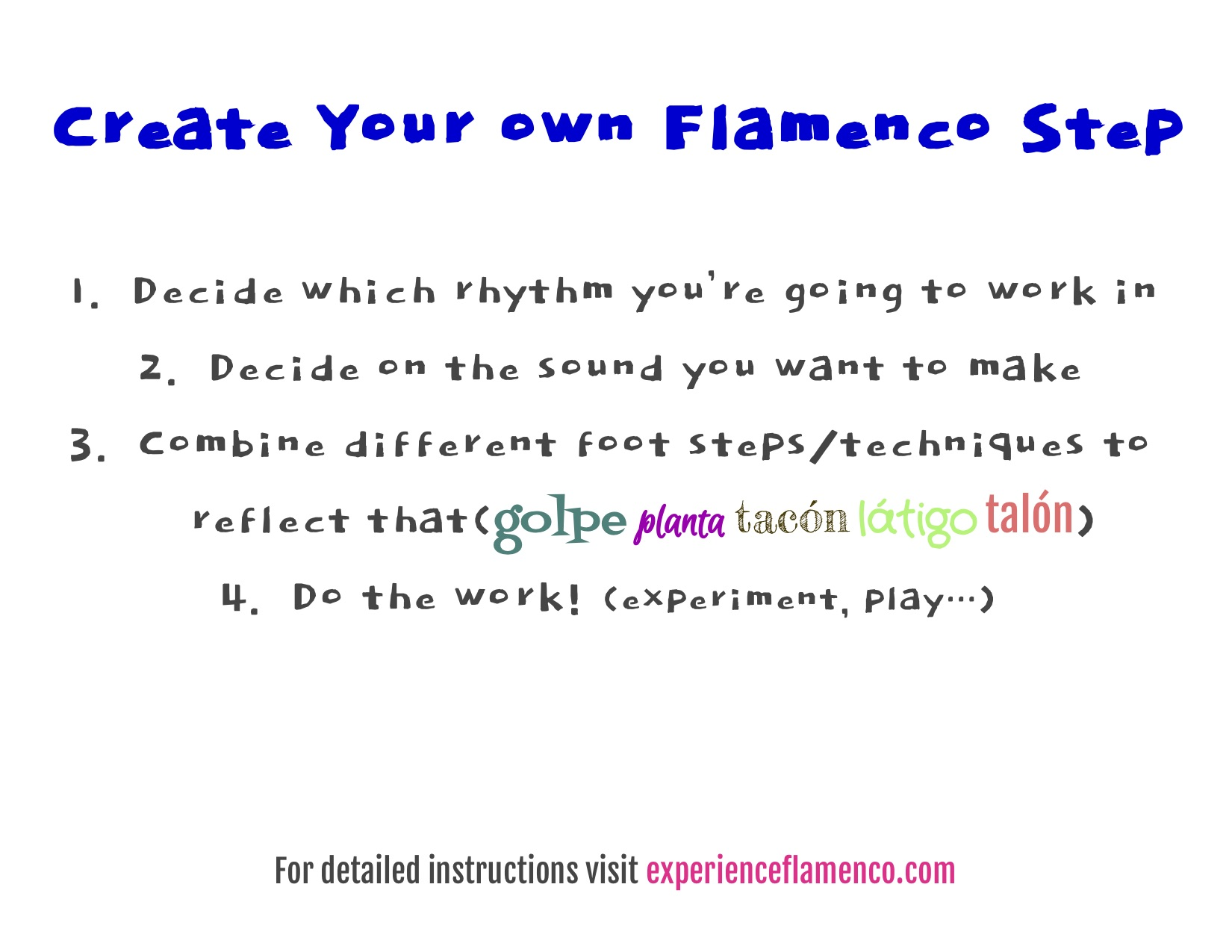 How to Create Your Own Flamenco Step
