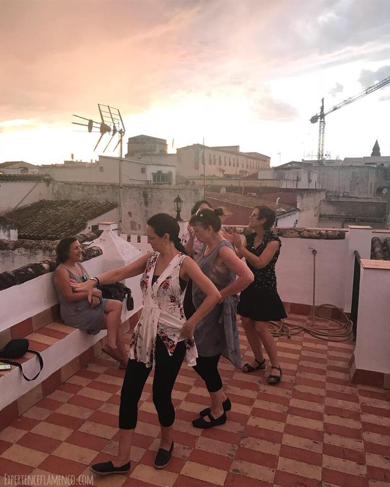 bulerias on the roof at sunset.jpg