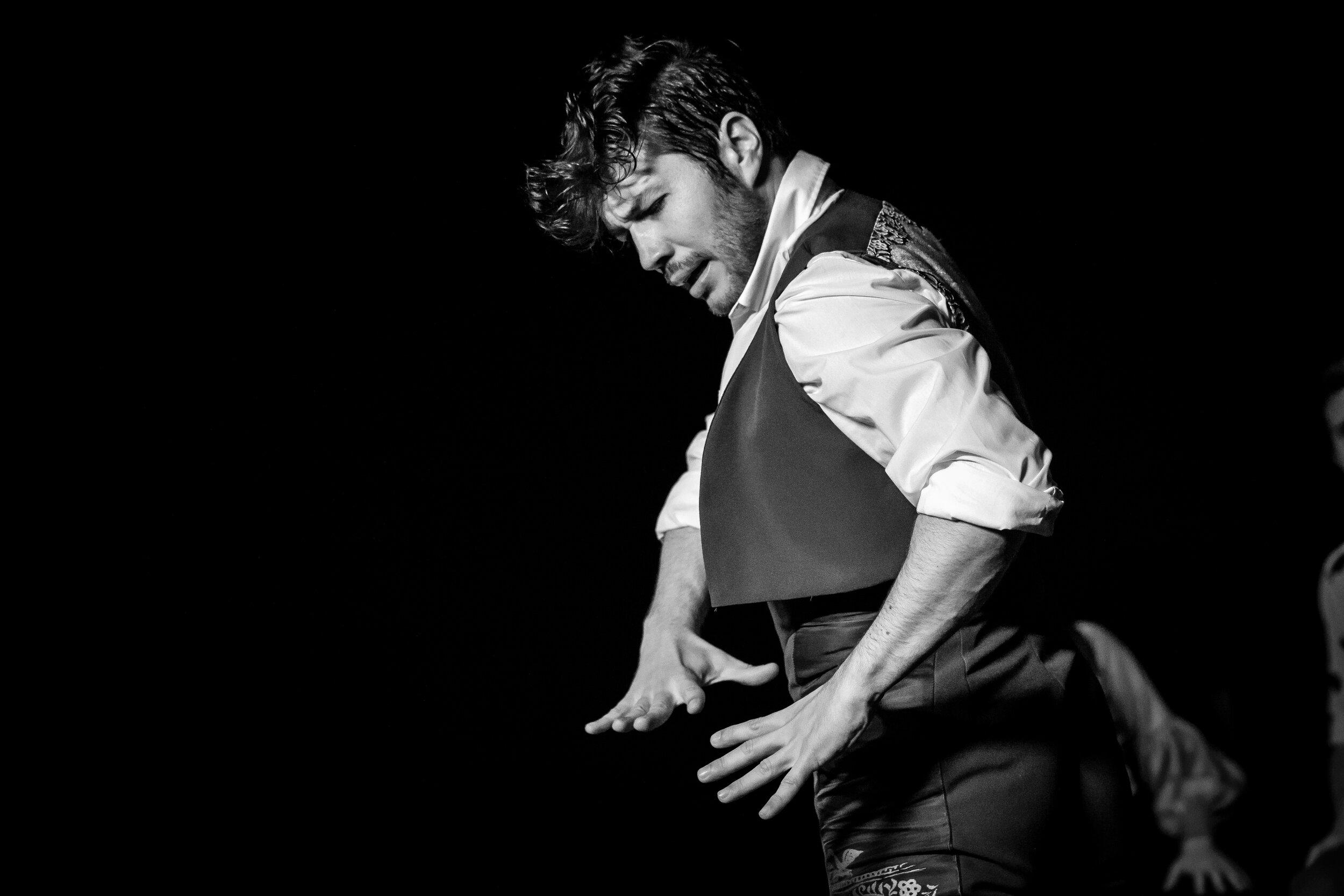 Emilio Ochando at the Festival de Jerez. He comes to Portland for flamenco workshops with Portland Flamenco Events
