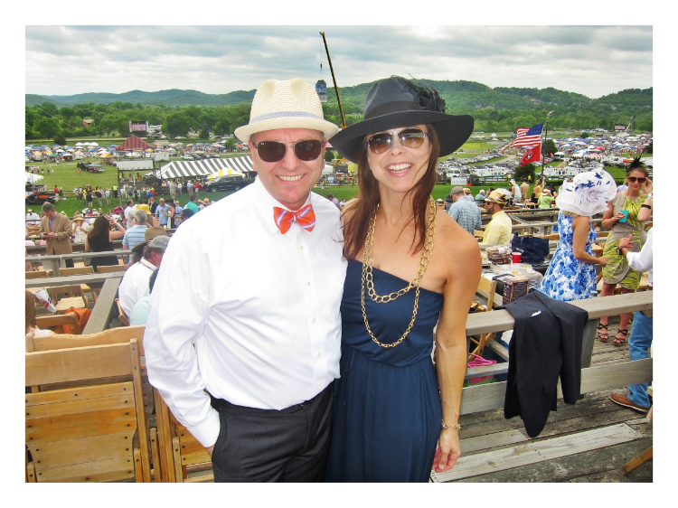 my australian bff simon james & PG at steeplechase in 2014 (photo cred simon james, but how since he is in the photo. lol!)