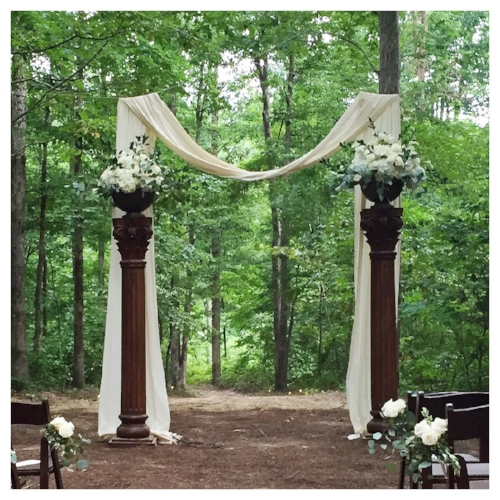saxon & joe's wedding arch at cornmeal.