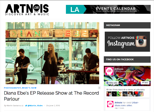 ARTNOIS is reviewing Diana Ebe's Release Show. Read the article here.