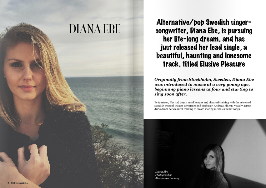 Diana Ebe is featured in EILE Magazine May/June issue