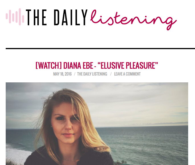 Diana Ebe is featured on The Daily Listening