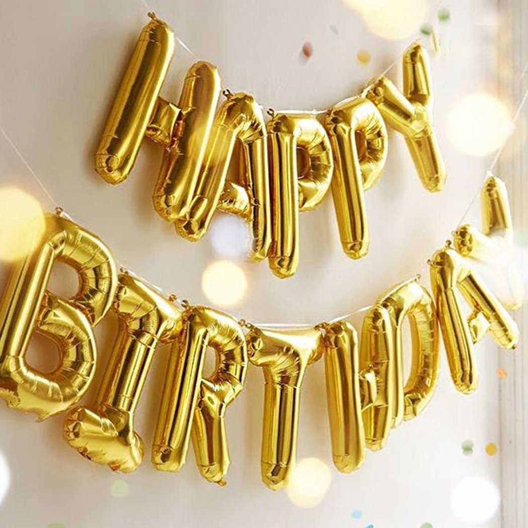 Happy Birthday Balloon Banner (no helium needed - you blow up the letters with a little straw!)  Currently available with Prime for just $7.48!